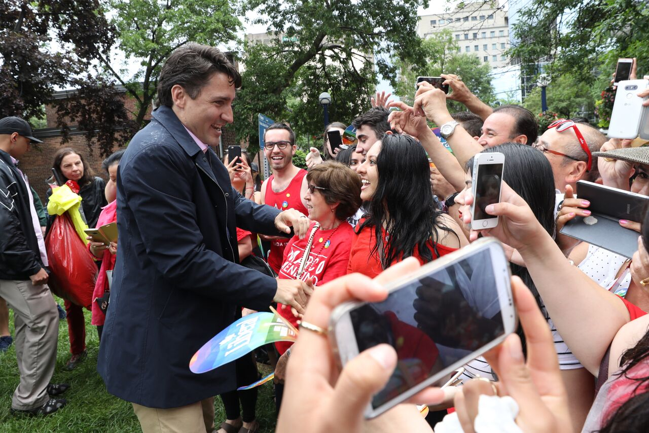 Meeting and Greeting Mr. Justin Trudeau The Prime Minister of Canada,  Toronto Community